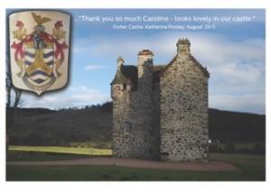 Heraldic Shields - Forter Castle