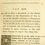 On this day 1773 Parliament passes the Tea Act