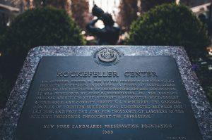 Rockefeller Centre Plaque