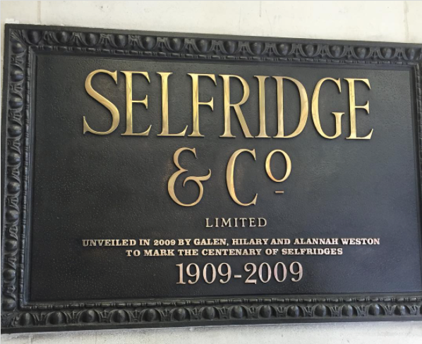 Selfridge & Co, established in 1909